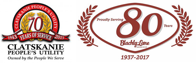 Two examples of logos with laurels.