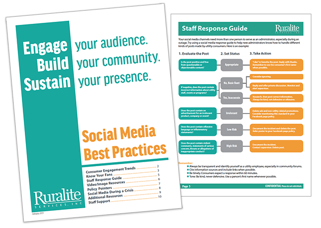 Sample pages from Social Media Best Practices